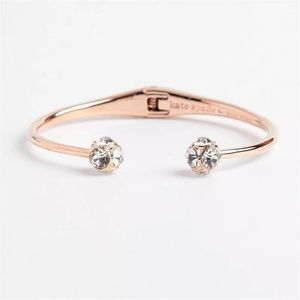 kate spade Jewelry - Kate Spade   Rose Gold Pavé Crystals Bangle
